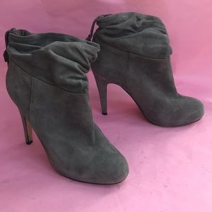 Vintage gray Aldo suede leather booties